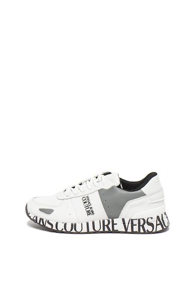 Versace Jeans Couture Pantofi sport de piele si piele ecologica Wave Barbati
