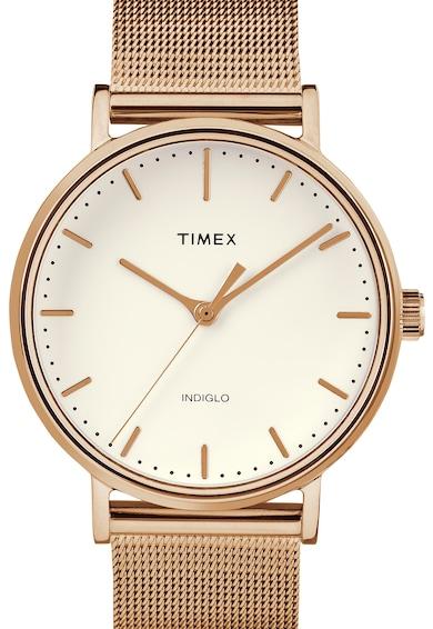 Timex Ceas quartz cu bratara cu model plasa Femei