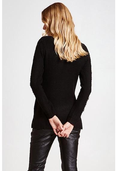 Motivi Pulover din amestec de lana, cu insertii de dantela pe maneci Femei