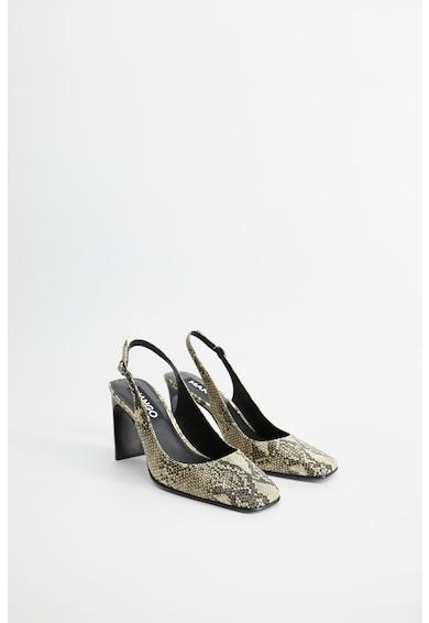 Mango Обувки Glade с отворена пета и шагрен Жени