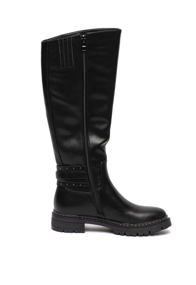 U.S. Polo Assn. Cizme de piele ecologica, lungi pana la genunchi, cu detaliu catarama Sophie Femei