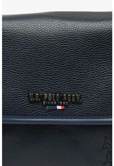 U.S. Polo Assn. Малка чанта от еко кожа с релефно лого Мъже