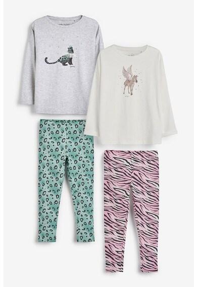 NEXT Set de pijamale cu animal print - 2 perechi Fete