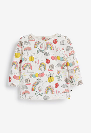 NEXT Set de bluze cu maneci lungi si imprimeu - 2 piese Fete