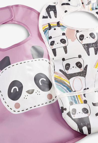 NEXT Set de bavetele cu imprimeu panda - 2 piese Fete
