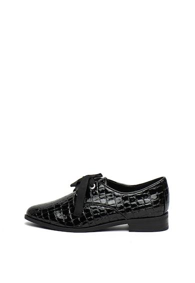 Aldo Pantofi derby cu aspect lacuit si model piele de crocodil Femei