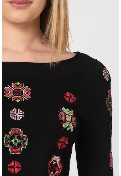 DESIGUAL Пуловер Monterrey с етно бродерия Жени