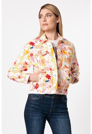DESIGUAL Jacheta de denim cu imprimeu floral Chaq Lisam Femei