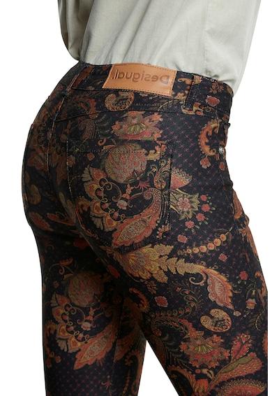 DESIGUAL Pantaloni skinny cu imprimeu floral Femei