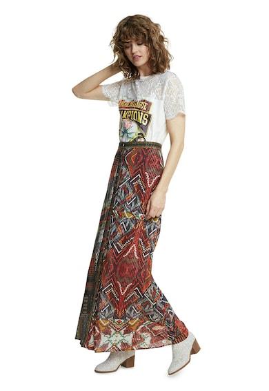 DESIGUAL Fusta de viscoza cu model etnic Femei