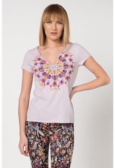 DESIGUAL Tricou cu imprimeu floral cu mandala Croacia Femei
