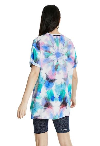 DESIGUAL Памучна тениска с шарка Жени