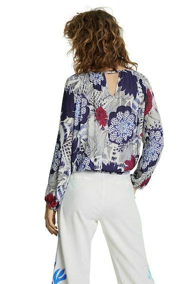 DESIGUAL Bluza cu imprimeu floral si terminatie elastica Femei