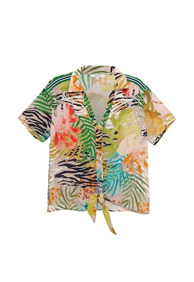 DESIGUAL Camasa cu imprimeu tropical si animal Femei