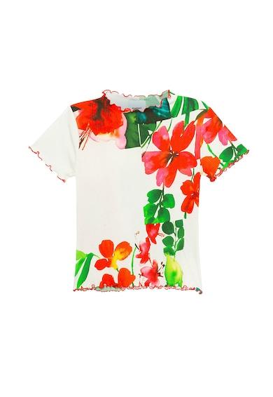 DESIGUAL Tricou cu striatii si imprimeu floral Femei