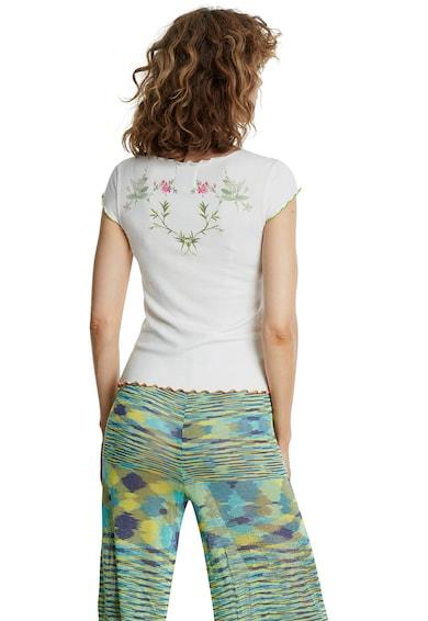 DESIGUAL Tricou cu decolteu in V si imprimeu floral Femei