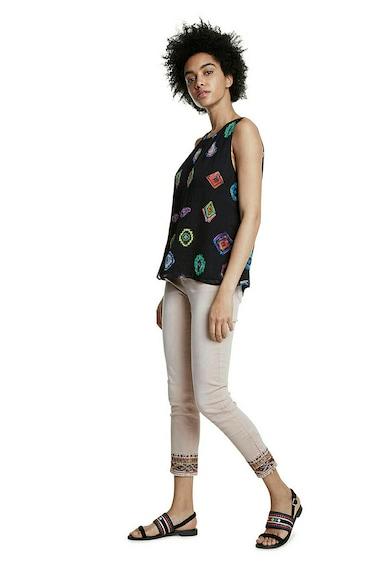 DESIGUAL Bluza vaporoasa fara maneci cu imprimeu geometric Femei