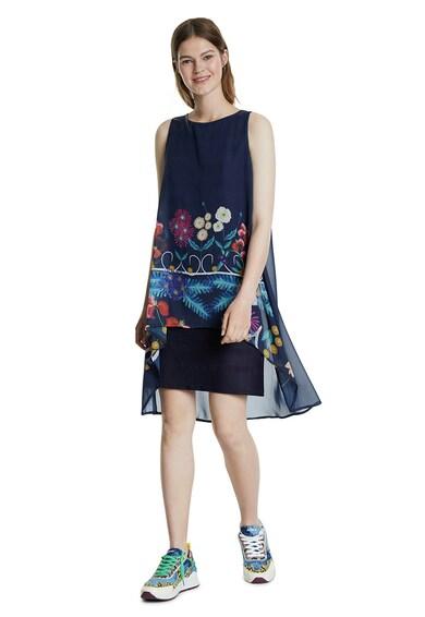 DESIGUAL Rochie cu croiala asimetrica si imprimeu floral Femei
