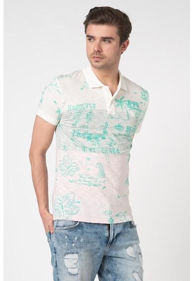 DESIGUAL Tricou polo cu model tropical Benjamin Barbati