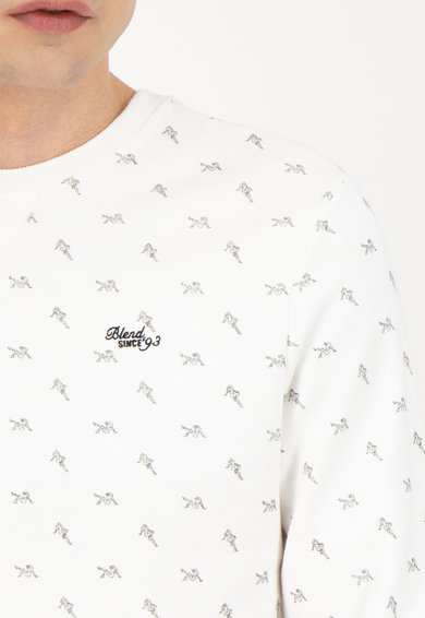 BLEND Bluza sport cu decolteu la baza gatului si imprimeu Barbati