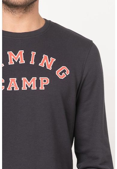 BLEND Bluza sport din amestec de bumbac, cu imprimeu text Barbati