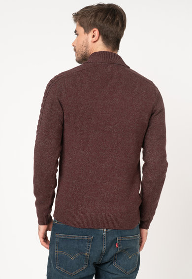BLEND Pulover din amestec de lana, cu model torsade Barbati
