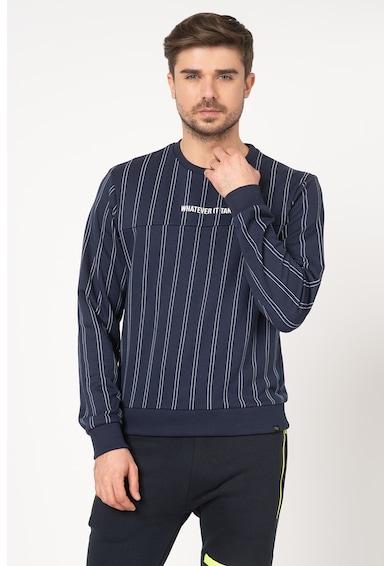 BLEND Bluza sport cu decolteu la baza gatului si model in dungi Barbati