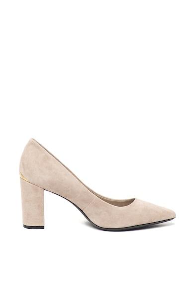 Calvin Klein Pantofi de piele intoarsa, cu toc masiv Eva Femei