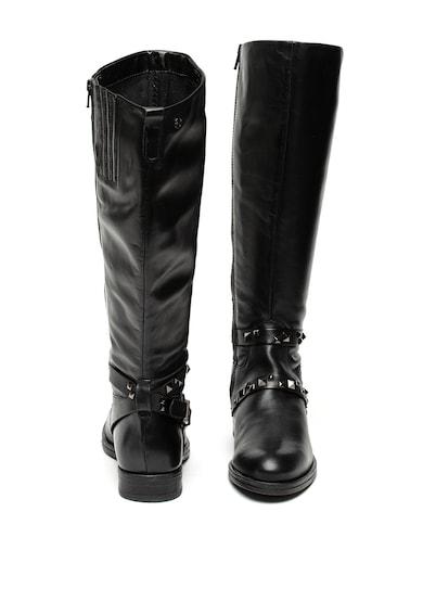 Tamaris Cizme de piele lungi pana la genunchi, cu aplicatii din tinte Femei
