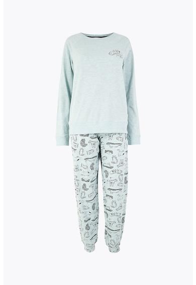 Marks & Spencer Pijama din amestec de bumbac cu imprimeu Femei