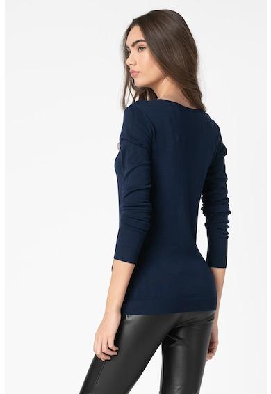 GUESS JEANS Pulover din tricot fin cu logo in relief Femei