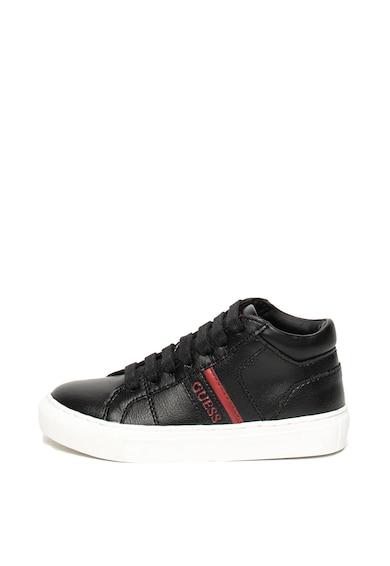 Guess Pantofi sport mid high cu insertii din piele Baieti