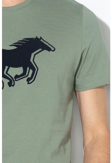 Mustang Tricou cu imprimeu logo catifelat Barbati