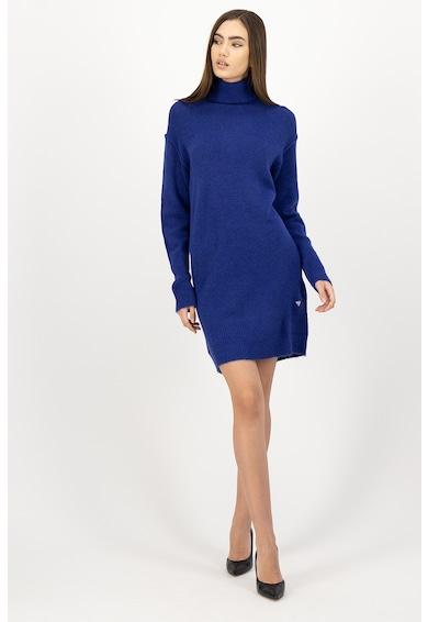 GUESS JEANS Rochie tricotata din amestec de lana, cu guler inalt Femei