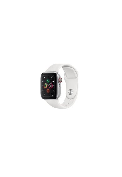 Apple Watch 5, GPS, Cellular, Carcasa Silver Aluminium 44mm, White Sport Band - S/M & M/L Femei