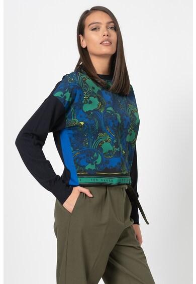 Ted Baker Pulover tricotat fin cu partea frontala din material vaporos Bekii Femei