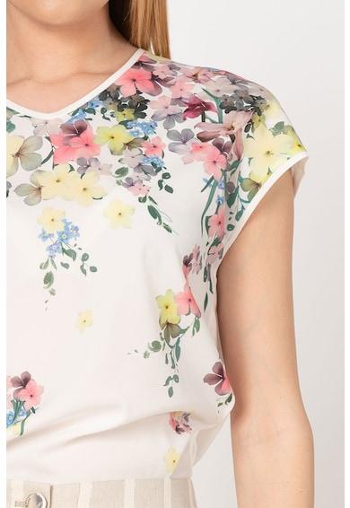 Ted Baker Tricou cu model floral si decolteu in V Alysin Femei