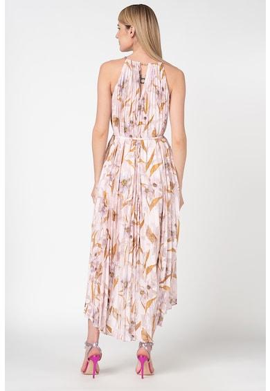 Ted Baker Rochie plisata cu terminatie asimetrica si imprimeu floral Dixxie Femei