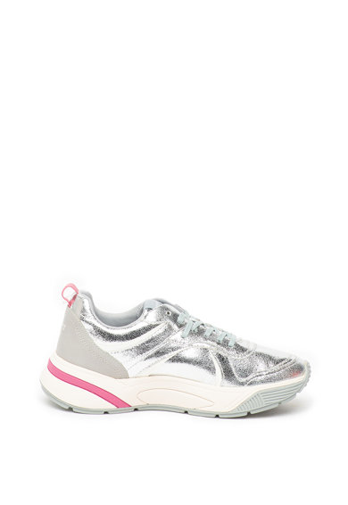Esprit Pantofi sport de piele ecologica, cu aspect metalizat Femei