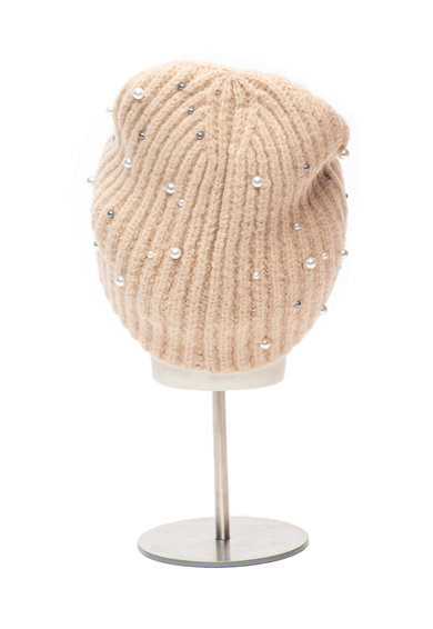 Esprit Caciula tricotata cu aplicatii de margele Femei