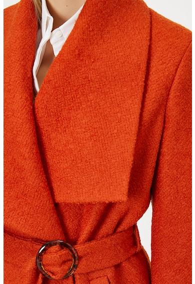 KOTON Palton din amestec de lana, cu revere late Femei