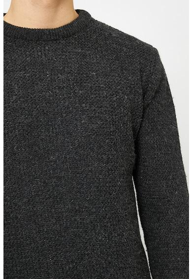 KOTON Pulover din amestec de lana, cu decolteu la baza gatului Barbati