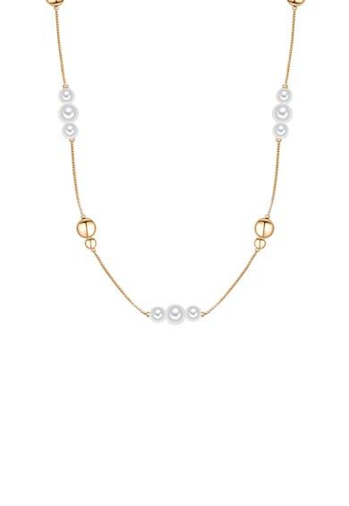 Clara Copenhagen Colier de alama, cu placaj de aur si perle organice Femei
