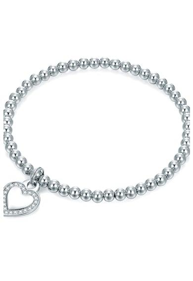 Highstreet Jewels Bratara cu talisman in forma de inima, decorat cu zirconia Femei
