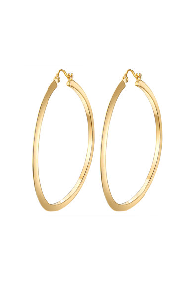 Highstreet Jewels Cercei rotunzi placati cu aur Femei