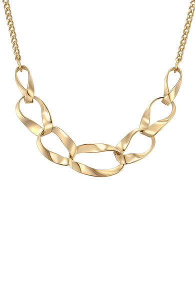 Highstreet Jewels Colier placat cu aur si insertie din lant Femei