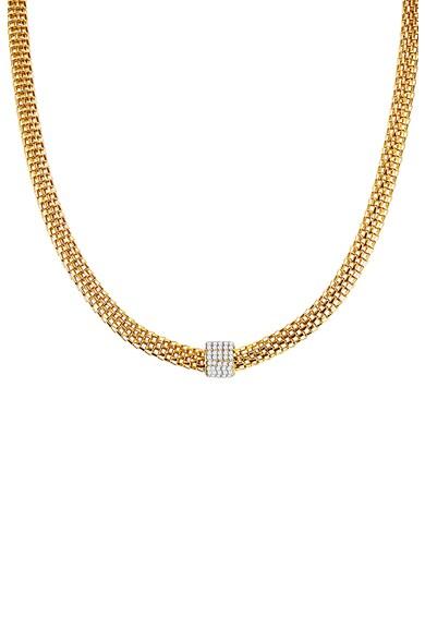 Highstreet Jewels Colier placat cu aur galben si aspect texturat Femei