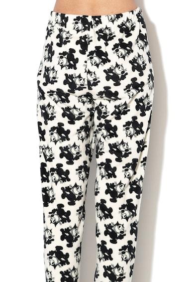 Undercolors of Benetton Pantaloni de pijama din fleece, cu snur pentru ajustare Femei
