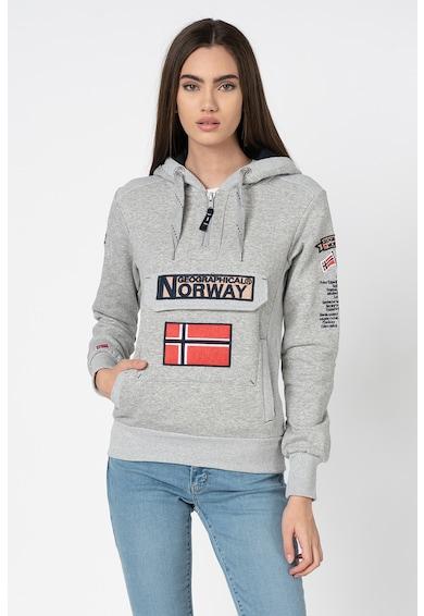 Geographical Norway Hanorac cu imprimeu logo si buzunar frontal Gymclass Femei