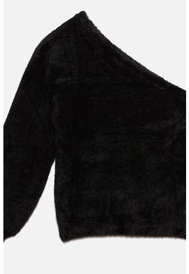 Motivi Pulover din material teddy cu decolteu pe umar Femei